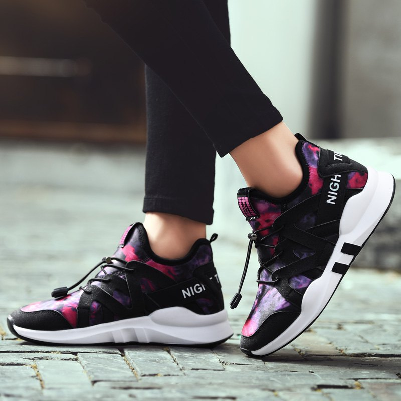 Fashion Leisure Folding Soft Breathable and Comfortable Sports Shoes - SANGRIA 35