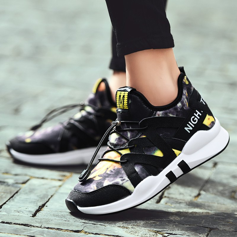 Fashion Leisure Folding Soft Breathable and Comfortable Sports Shoes - YELLOW 36