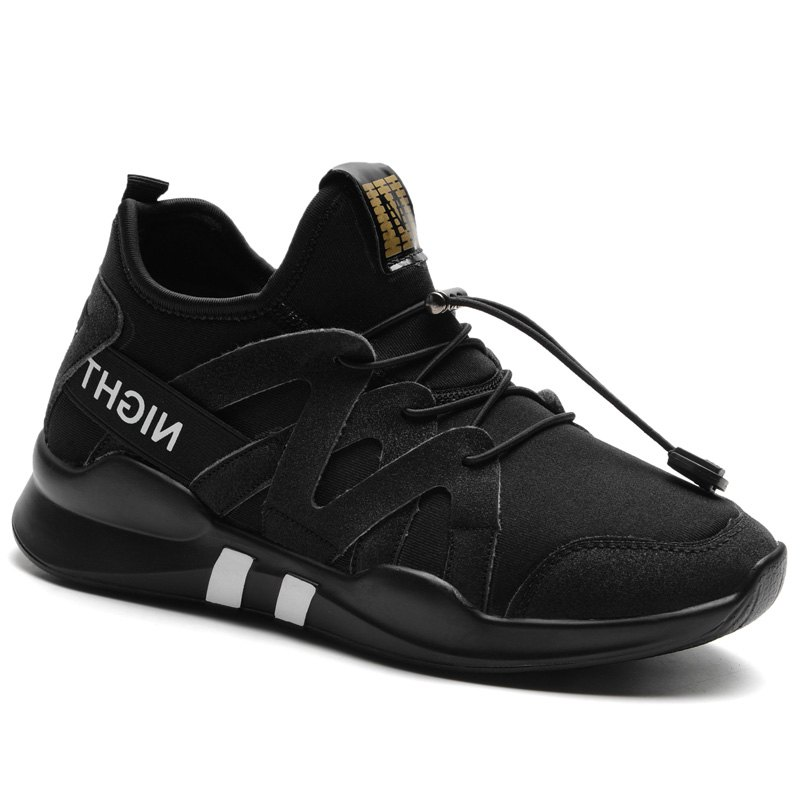 Fashion Leisure Folding Soft Breathable and Comfortable Sports Shoes - BLACK 40