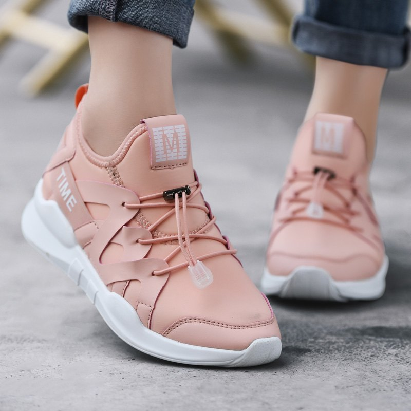 Fashion Leisure Folding Soft Breathable and Comfortable Sports Shoes - PINK 35