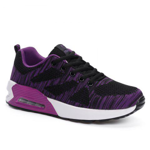 All-Match Leisure Breathable Soft and Comfortable Shoes Net - BLACK A 38