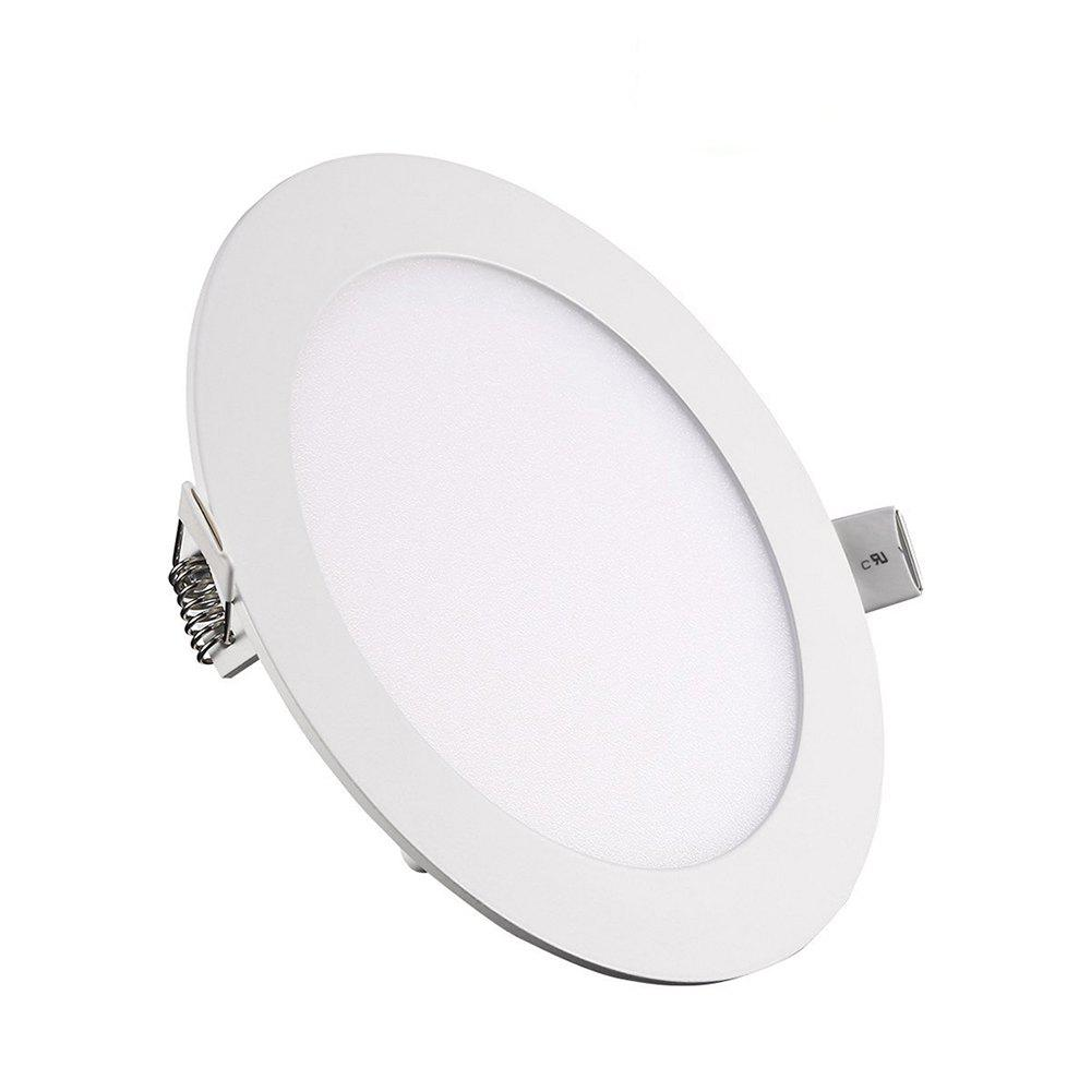 9W Dimmable Round Ultra-thin LED Panel Light Lamp AC100 - 240V 5pcs - WARM WHITE