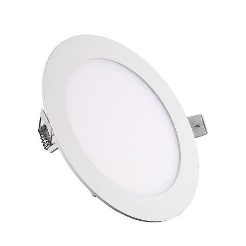 12W Dimmable Round Ultra-thin LED Panel Light Lamp AC 100 - 240V 5pcs - WARM WHITE