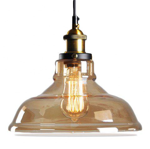 11inches Modern Industrial Edison Vintage Style Pendant Light Hanging Glass Mounted Fixture 2PCS - AMBER