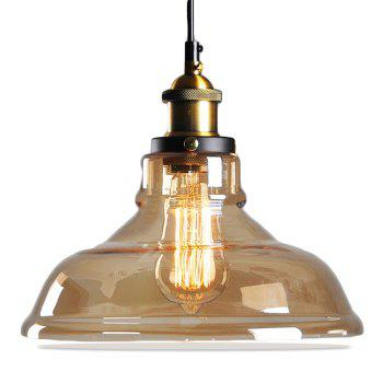 11inches Modern Industrial Edison Vintage Style Pendant Light Hanging Glass Mounted Fixture 2PCS - AMBER AMBER