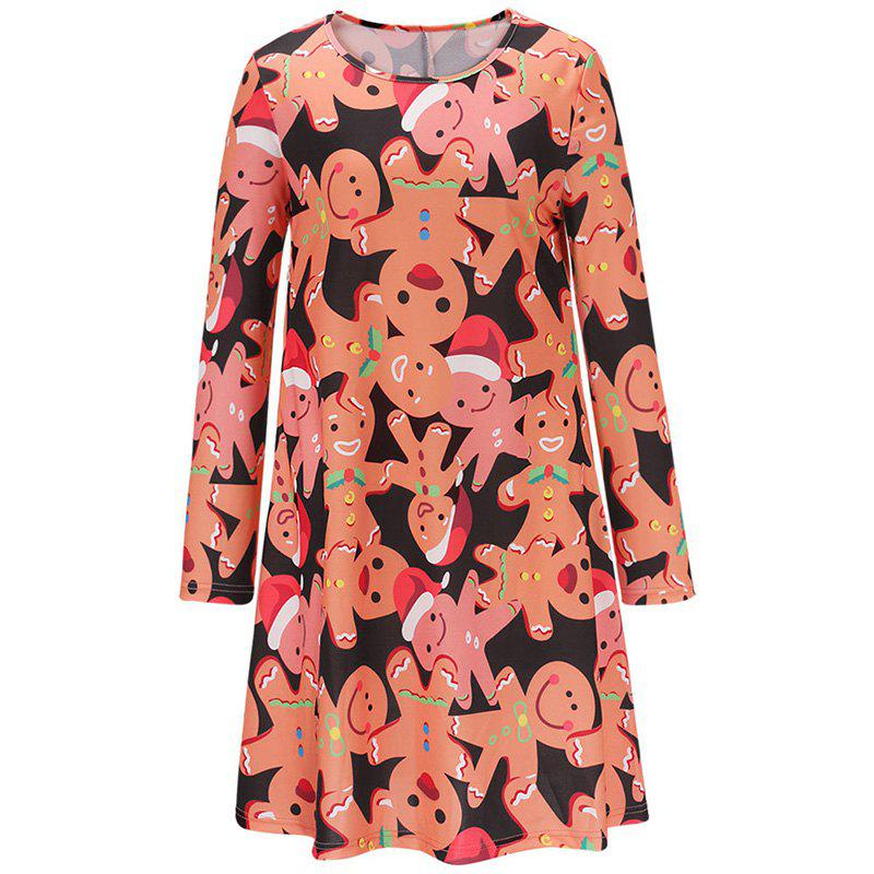 Women Flowers Printing Elegant Dress - JACINTH S