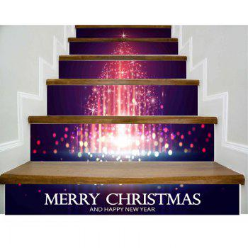 DSU Christmas Tree Xmas New Year Stair Wall Sticker Home Decorations 6PCS - COLORFUL COLORFUL
