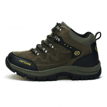 Men Casual New Trend for Fashion Outdoor Lace Up Rubber Big Plus Size Shoes - GREEN 41