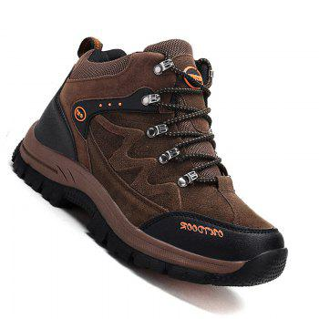 Men Casual New Trend for Fashion Outdoor Lace Up Rubber Big Plus Size Shoes - BROWN BROWN