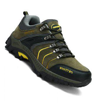 Men Casual New Trend for Fashion Warm Outdoor Lace Up Rubber Big Plus Size Shoes - GREEN GREEN