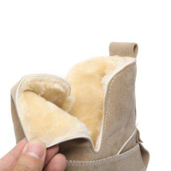 Casual Plush Head Flat Bottom Short Boots - APRICOT APRICOT