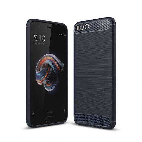 Shockproof Back Cover Solid Color Soft Carbon Fiber Case for Huawei Xiaomi Note 3 - DEEP BLUE