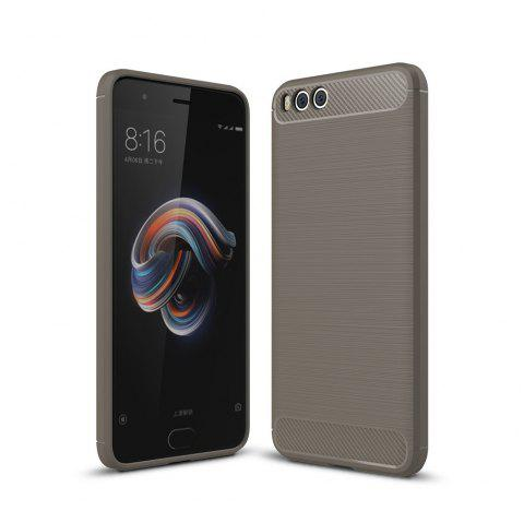 Shockproof Back Cover Solid Color Soft Carbon Fiber Case for Huawei Xiaomi Note 3 - GRAY
