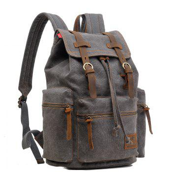 AUGUR Fashion Men Backpack Vintage Canvas School Bag Travel Large Capacity -  GRAY