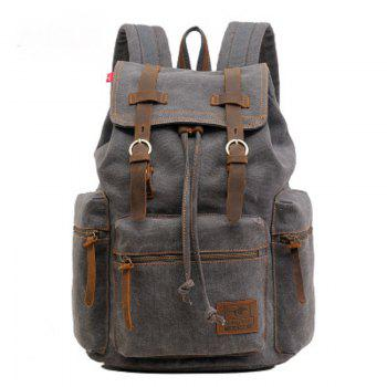 AUGUR Fashion Men Backpack Vintage Canvas School Bag Travel Large Capacity - GRAY GRAY
