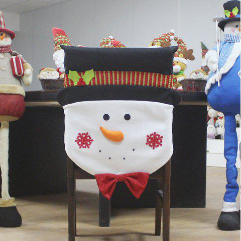 Hotel Restaurant Christmas Decoration for Chairs - BLACK WHITE