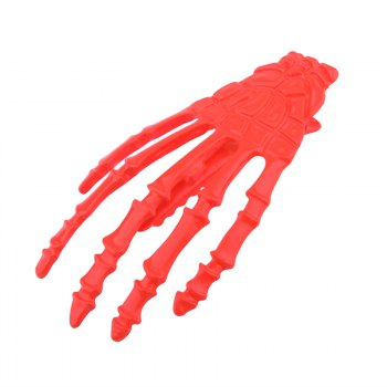 Goth Punk Style Gripper Shape Barrette Hair Accessories - RED