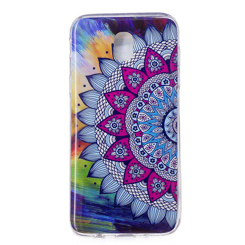 TPU Material Colored Sunflower Pattern High Penetration Luminous Phone Case for Samsung Galaxy J3 (2017) J330 EU - multicolorCOLOR