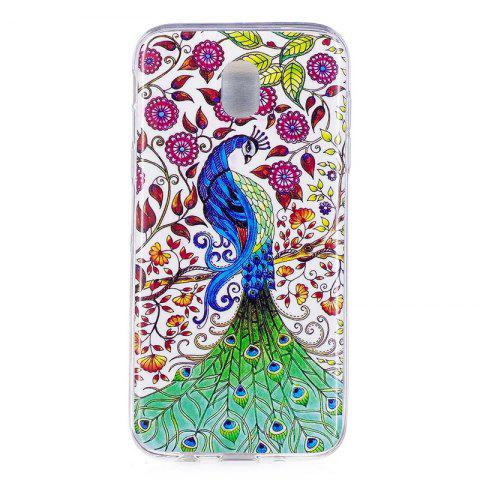 TPU Material Peacock Pattern High Penetration Luminous Phone Case for Samsung Galaxy J5 (2017) J530 EU - multicolorCOLOR