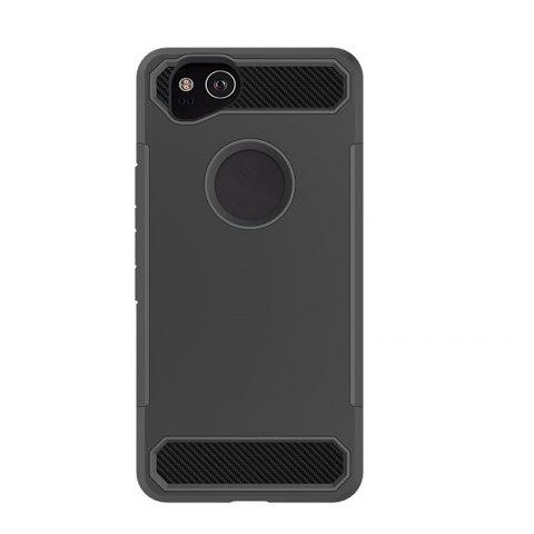 Anti-slip Heavy-duty Carbon Fiber Case Cover for Google Pixel 2 - BLACK