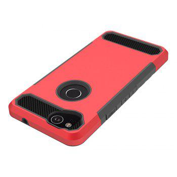 Anti-slip Heavy-duty Carbon Fiber Case Cover for Google Pixel 2 -  RED