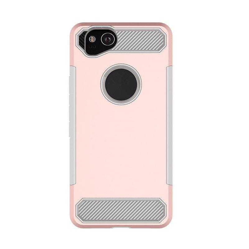 Anti-slip Heavy-duty Carbon Fiber Case Cover for Google Pixel 2 - PINK