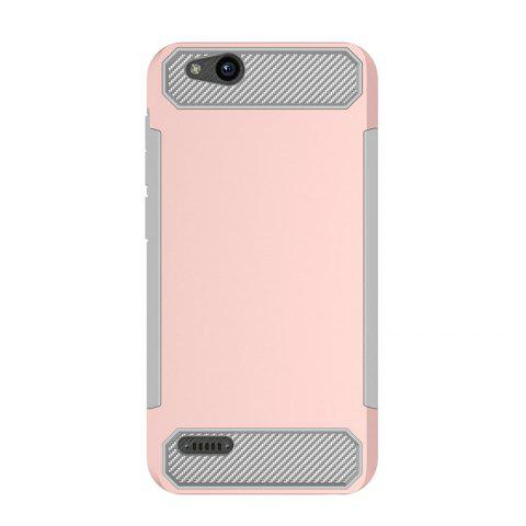 Anti-slip Carbon Fiber Case Cover for ZTE Tempo X N9137 - PINK