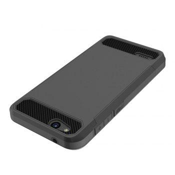 Anti-slip Carbon Fiber Case Cover for ZTE Tempo X N9137 - BLACK