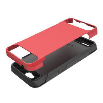 Anti-slip Carbon Fiber Case Cover for ZTE Tempo X N9137 -  RED