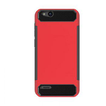 Anti-slip Carbon Fiber Case Cover for ZTE Tempo X N9137 - RED RED