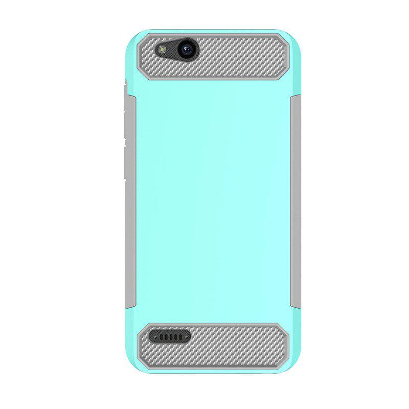 Anti-slip Carbon Fiber Case Cover for ZTE Tempo X N9137 - DEEP BLUE