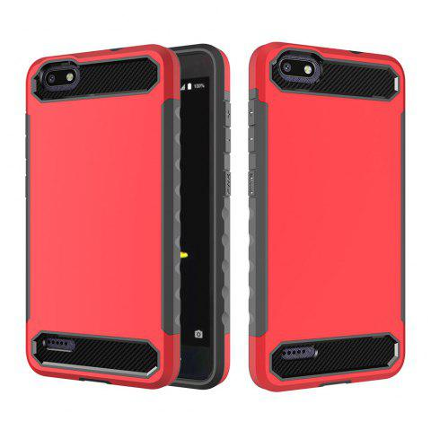 Anti-slip Carbon Fiber Case Cover for ZTE N9517 - RED