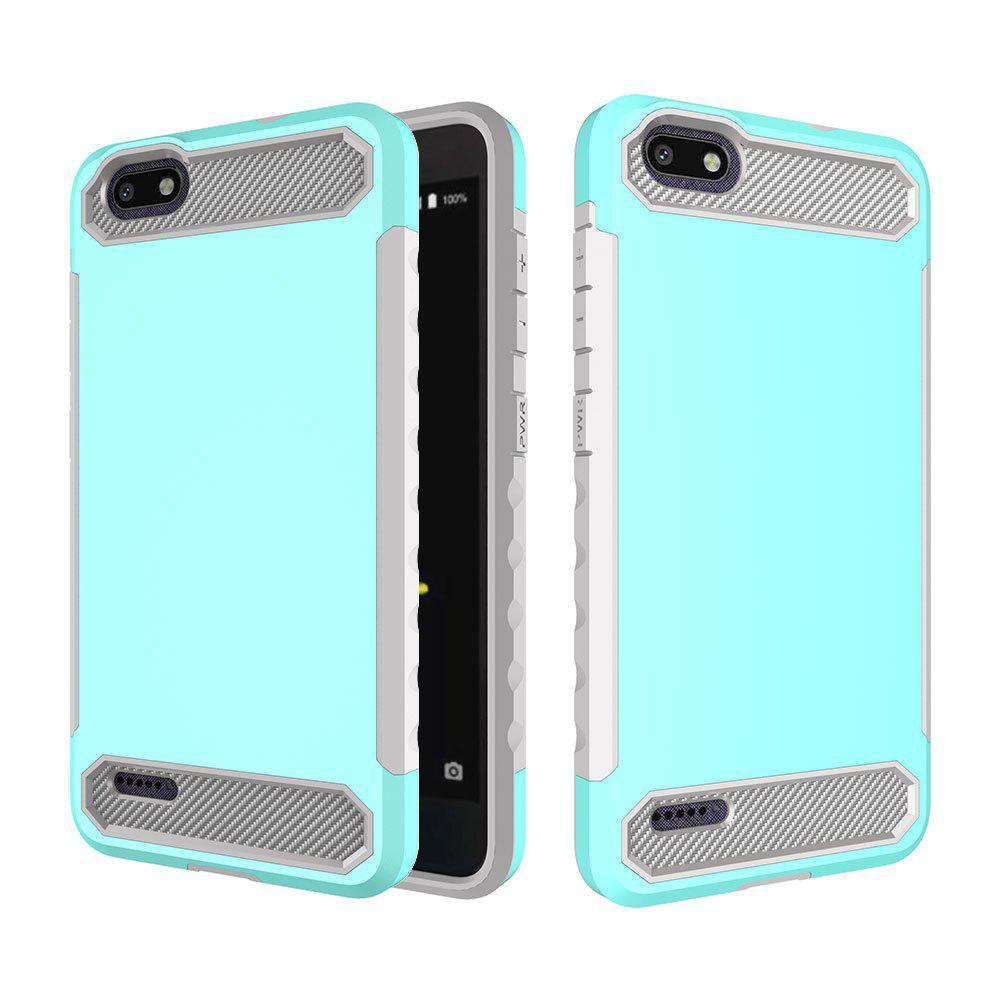 Anti-slip Carbon Fiber Case Cover for ZTE N9517 - LIGHT BLUE