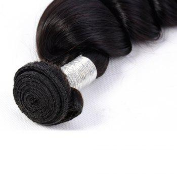 Brazilian Unprocessed Loose Wave Natural Color Virgin Human Hair Extension 1 bundles - BLACK BLACK