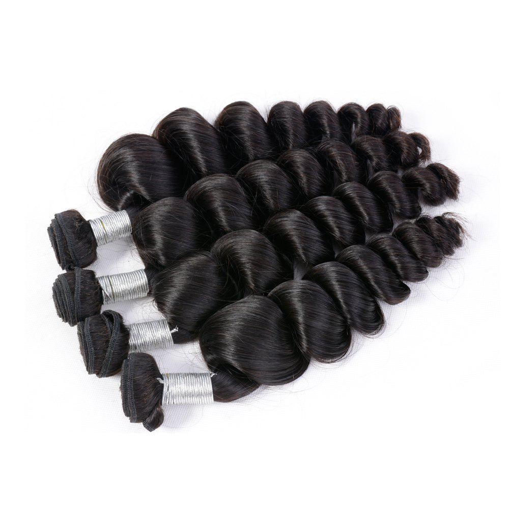 Brazilian Unprocessed Loose Wave Natural Color Virgin Human Hair Extension 1 bundles - BLACK 8INCH