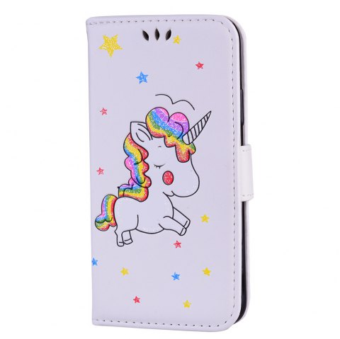 Unicorn Wallet Cell Phone Set for iPhone X - WHITE