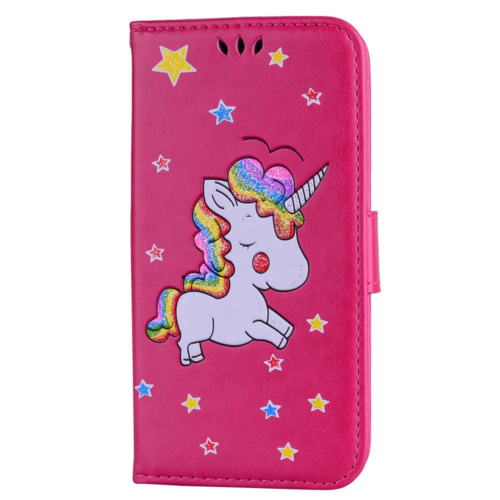 Unicorn Wallet Cell Phone Set for iPhone X - RED