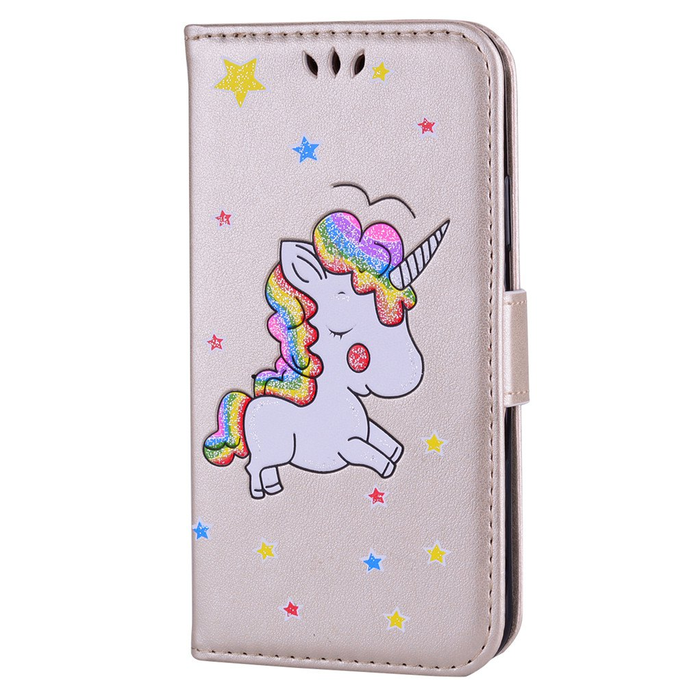 Unicorn Wallet Cell Phone Set for iPhone X - ROSE GOLD