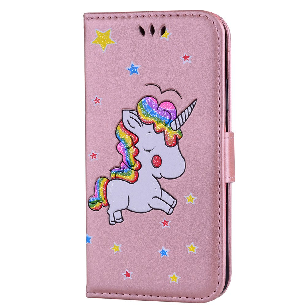 Unicorn Wallet Cell Phone Set for iPhone X - PAPAYA