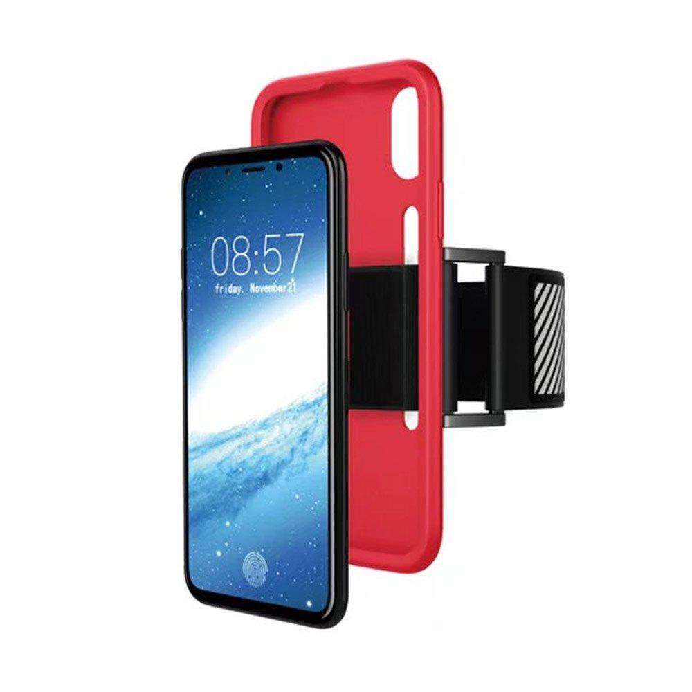 Multi-functional Mobile Phone Case Cover with Sports Arm Belt for Iphone X - RED