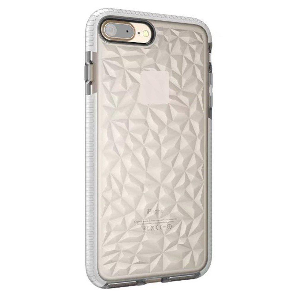 Diamond Grain Soft Shell Mobile Phone Protection Case for IPhone 8 Plus / 7 Plus - WHITE