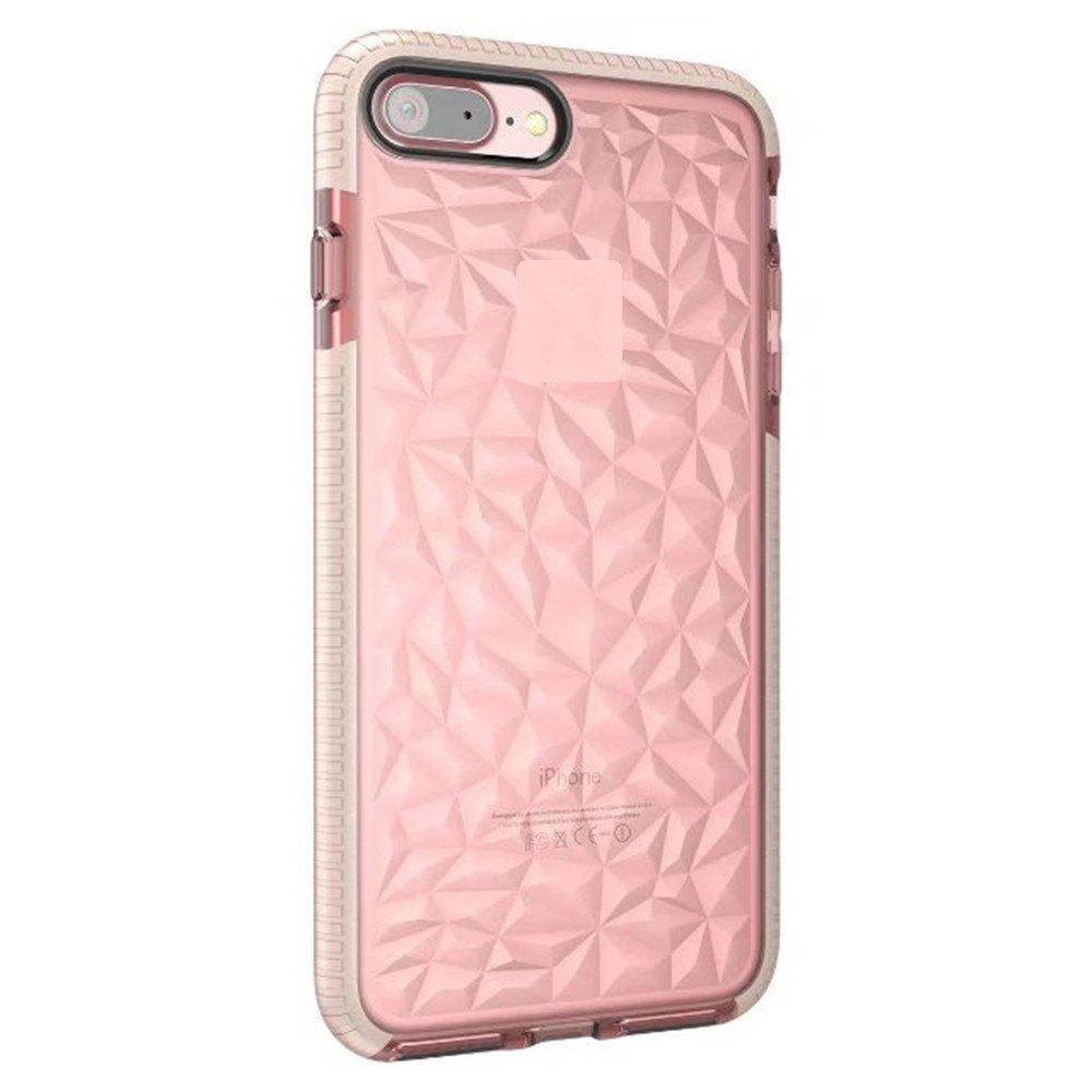 Diamond Grain Soft Shell Mobile Phone Protection Case for IPhone 8 Plus / 7 Plus - PINK