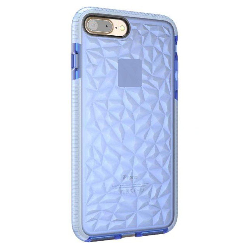 Diamond Grain Soft Shell Mobile Phone Protection Case for IPhone 8 Plus / 7 Plus - BLUE