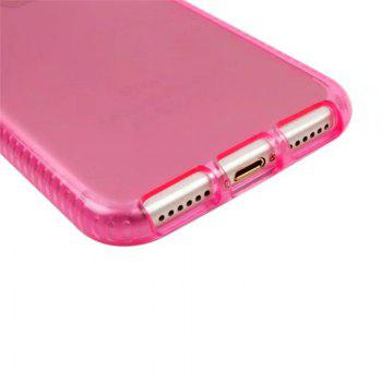 Transparent TPU Soft Shell Mobile Phone Protection Case for IPhone 8 / IPhone 8 - PINK