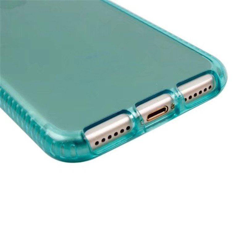 Transparent TPU Soft Shell Mobile Phone Protection Case for IPhone 8 / IPhone 8 - GREEN
