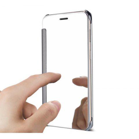 Plating Mirror Bracket Triad Flip Phone Protection Case for Samsung J730 / J7 Pro - SILVER