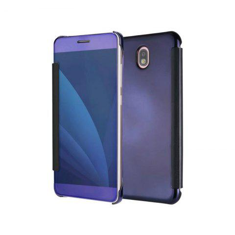 Plating Mirror Bracket Triad Flip Phone Protection Case for Samsung J730 / J7 Pro - PURPLE