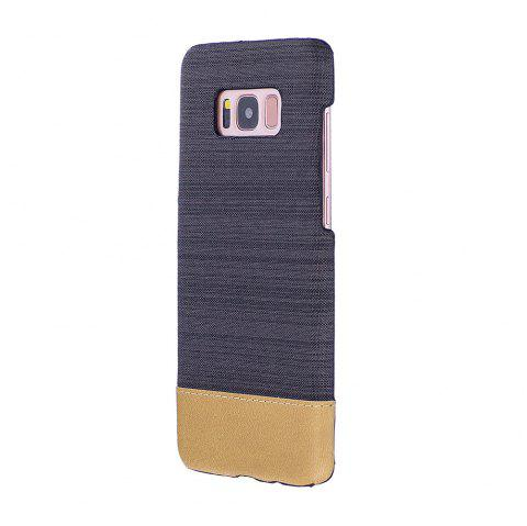 For Samsung Galaxy S8 Canvas Cases Hitting Scene Phone Back Shell - BLACK