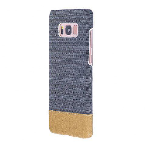 For Samsung Galaxy S8 Canvas Cases Hitting Scene Phone Back Shell - BROWN