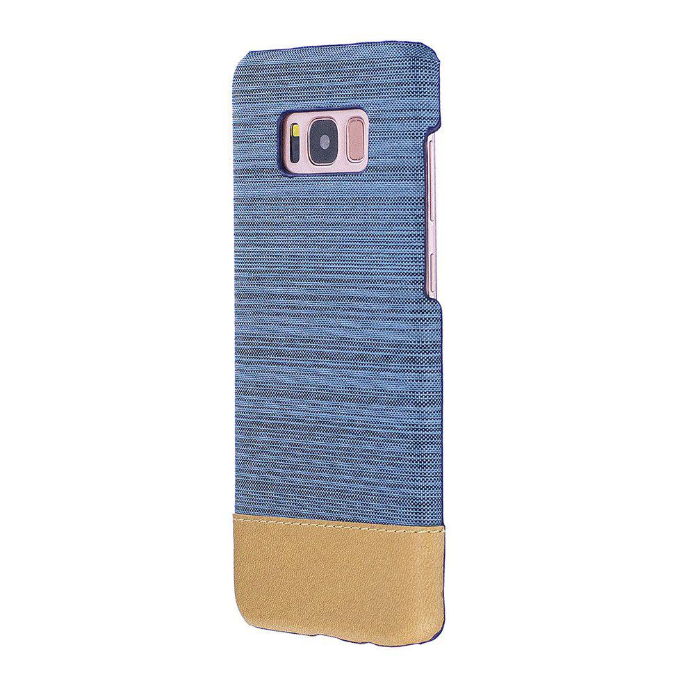 For Samsung Galaxy S8 Canvas Cases Hitting Scene Phone Back Shell - LIGHT BLUE